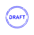 office stamp draft vector image
