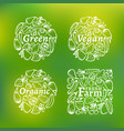 organic label set vector image