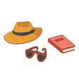 personal belongings traveler vacations prepare vector image