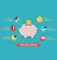 plan your money infographic vector image vector image