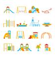 Playground Equipment Icon Set vector image vector image