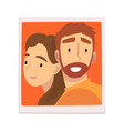 portrait happy couple in love man and woman vector image vector image