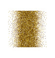 scattered golden confetti white background vector image