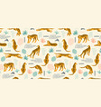 seamless exotic pattern with tigers and abstract vector image vector image