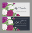 set of floristic gift elements of corporate vector image vector image