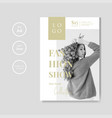 simple and minimalist fashion show flyer template vector image vector image