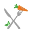 single carrot icon image vector image vector image