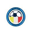 soccer fever simple circular footbal club emblem vector image vector image