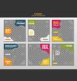 social media post vector image vector image