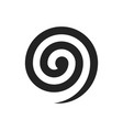 spiral on white background vector image vector image