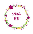 spring time floral frame with flowers isolated on vector image