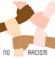 stop racism icon motivational poster against vector image