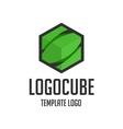 Template logo cube vector image vector image