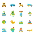 Toys Flat Icon vector image vector image