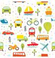 transport seamless pattern childish transport vector image