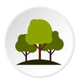 tree group icon circle vector image
