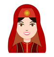 turk woman in traditional costume icon vector image