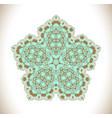 turquoise art mandala vector image