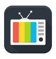 TV Show flat app icon with long shadow vector image