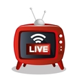 Tv video play live streaming graphic