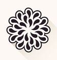 vintage flower Silhouette plants drops black vector image vector image