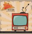 vintage technology television sale special offer vector image