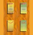 white geometric brochure template design vector image vector image