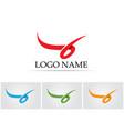 ribbon symbols and logo icons template app vector image