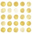 Set of golden grunge stamp Round shapes vector image