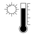 high temperature icon vector image