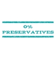 0 Percent Preservatives Watermark Stamp vector image