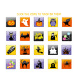 a happy halloween icon set vector image