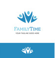 abstract family logo design vector image vector image