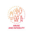 abuse and infidelity concept icon