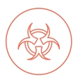 Bio hazard sign line icon vector image