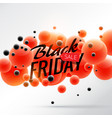 black friday sale background poster with red and vector image vector image