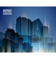 Blue city skyline at night Graphical urban vector image vector image