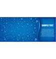 blue water drops background with many drops vector image vector image