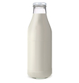 bottle of milk1 vector image