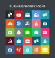 business money icons vector image