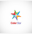 colorful star shape circle company logo vector image vector image