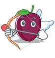 cupid plum character cartoon style vector image