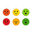 cute and funny round faces with various emotions vector image