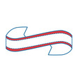 decorative ribbon icon vector image