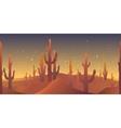 desert rusk seamless pattern vector image vector image