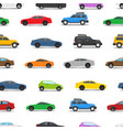 different city cars seamless background vector image