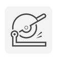 disc cutting tool icon design vector image