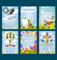 easter egg hunt invitation flyer template set vector image vector image