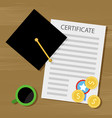 financing training and education for a diploma vector image vector image