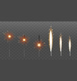 firework fountain sparks or pyrotechnic candle vector image
